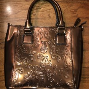Patent leather Brown Handbag